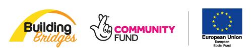 building bridges, community fund logo