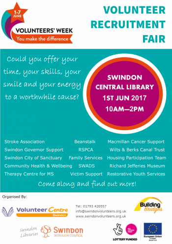1st June Volunteer Recruitment Fair Poster